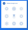sunlight icons vector image vector image