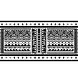 tribal ethnic polynesian geometric seamless vector image vector image