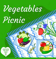 vegetables summer picnic party in the open air vector image