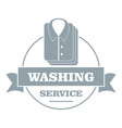 washing service logo simple gray style vector image vector image