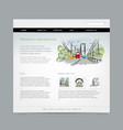 website design template cityscape vector image