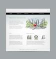 website design template cityscape vector image vector image