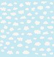white clouds on blue sky background vector image vector image