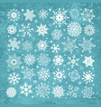 white snowflakes icon on green background vector image vector image