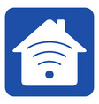 blue white information sign - house with signal vector image