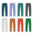Denim Jeans Different Colors Set vector image