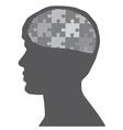 man puzzle vector image