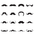 Icons of moustaches vector image