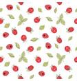 seamless raspberry pattern vector image