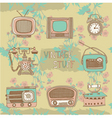 vintage radios and tvs vector image