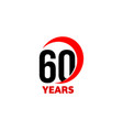 60th anniversary abstract logo sixty happy vector image vector image
