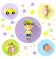 A set of cute toys icons for little boy vector image vector image