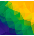 Abstract polygon background Brazil flag colors vector image