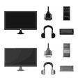 accessories and device logo vector image