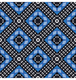 African geometric pattern in blue vector image vector image