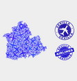 airlines mosaic sevilla province map and vector image vector image