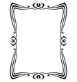 art nouveau ornamental frame vector image vector image