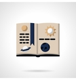 Astronomy book flat color icon vector image