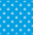 atomic model pattern seamless blue vector image vector image