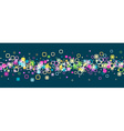 Banner with geometric pattern vector image vector image