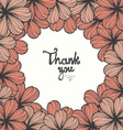beautiful thank you card with hand letters vector image vector image