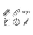 biathlon icons set outline style vector image vector image