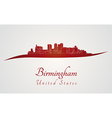 Birmingham AL skyline in red