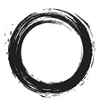 black enso zen brush vector image