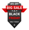 black friday sale badge for promotion vector image vector image