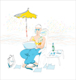 businessman on vacation vector image vector image
