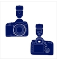 Camera with flash on two sides vector image