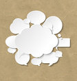 Cardboard With Speech Bubble vector image vector image