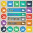 Chart icon sign Set of twenty colored flat round vector image vector image