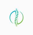 Chiropractic logo design templatehuman spine