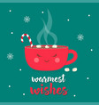 christmas coffee time vector image vector image