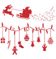 christmas design elements shillouette vector image vector image