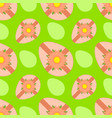 colorful seamless pattern of sweet easter eggs vector image vector image