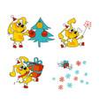 cool yellow dog mascot vector image vector image