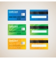 Credit cards vector image vector image