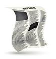 Crumpled newspaper vector image