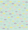 cute pattern with colorful umbrellas vector image