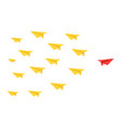 disruptive paper plane concept vector image vector image