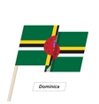 Dominica Ribbon Waving Flag Isolated on White vector image vector image