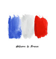 france watercolor national country flag icon vector image vector image