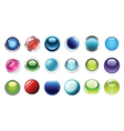 glossy buttons mega set vector image vector image