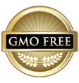 GMO Free Gold Label vector image vector image