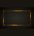 gold shiny glitter glowing vintage frame vector image vector image