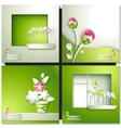 Green summer invitation card vector image vector image