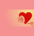 happy valentines day greeting card or horizontal vector image