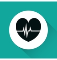 heart cardiology isolated icon vector image vector image